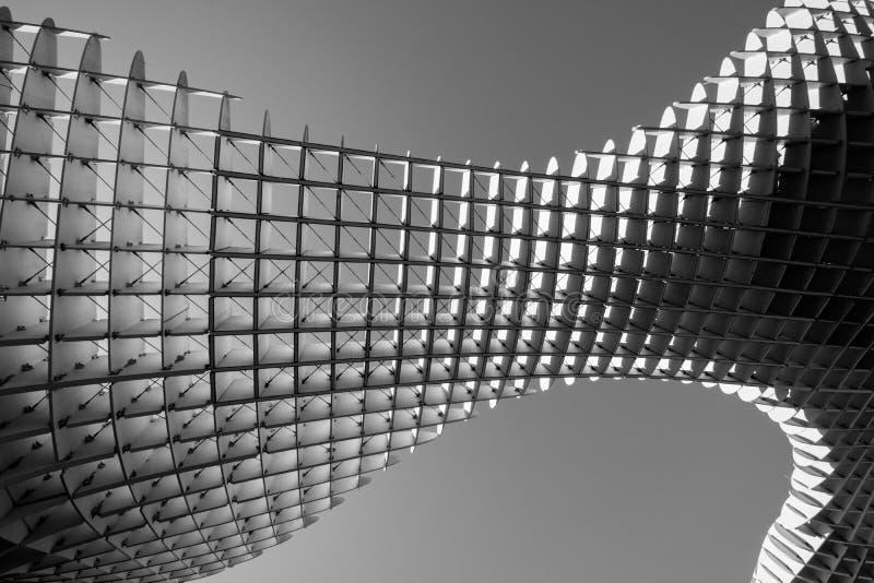 Skraj arkitektur i Seville, Spanien fotografering för bildbyråer