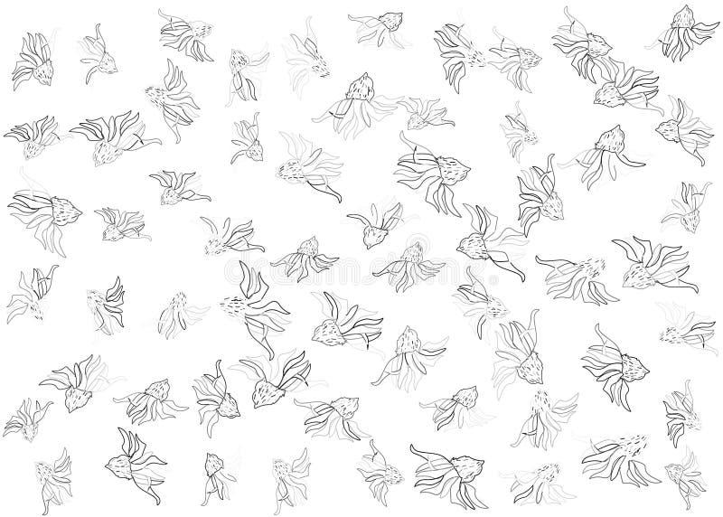 Skraj blom- modell vektor illustrationer
