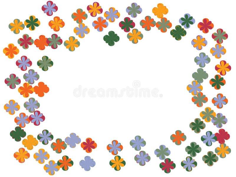 Skraj blommakonfettidesign vektor illustrationer