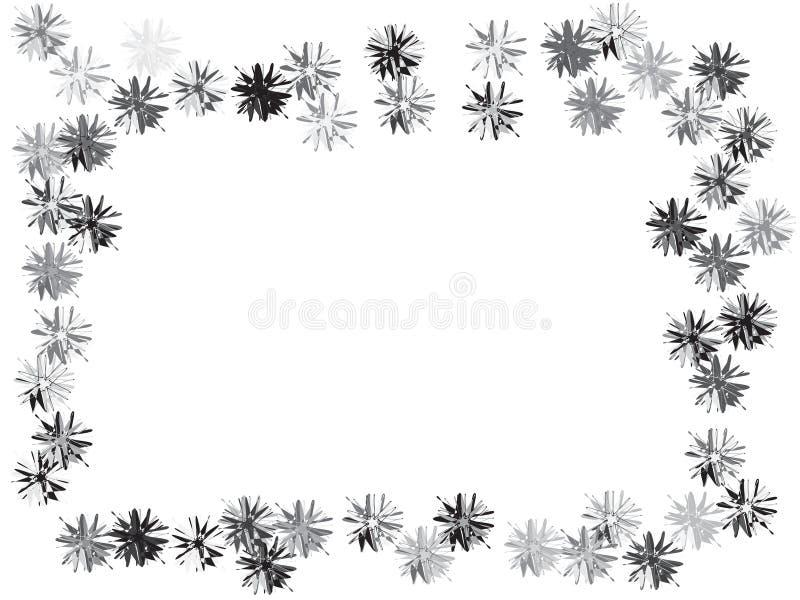 Skraj blommakonfettidesign stock illustrationer
