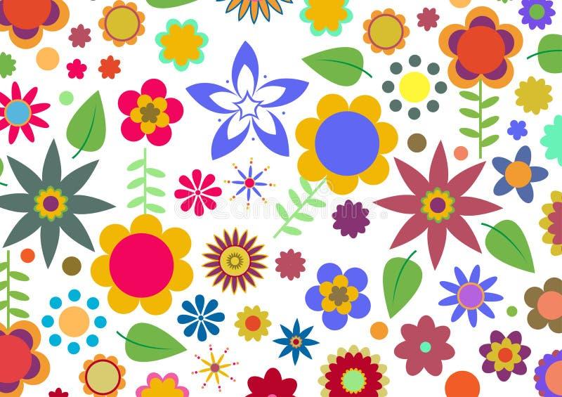 Skraj blommamodell stock illustrationer