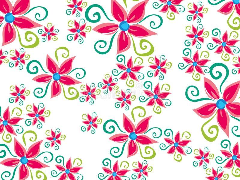 skraj groovy för tusenskönablomma vektor illustrationer