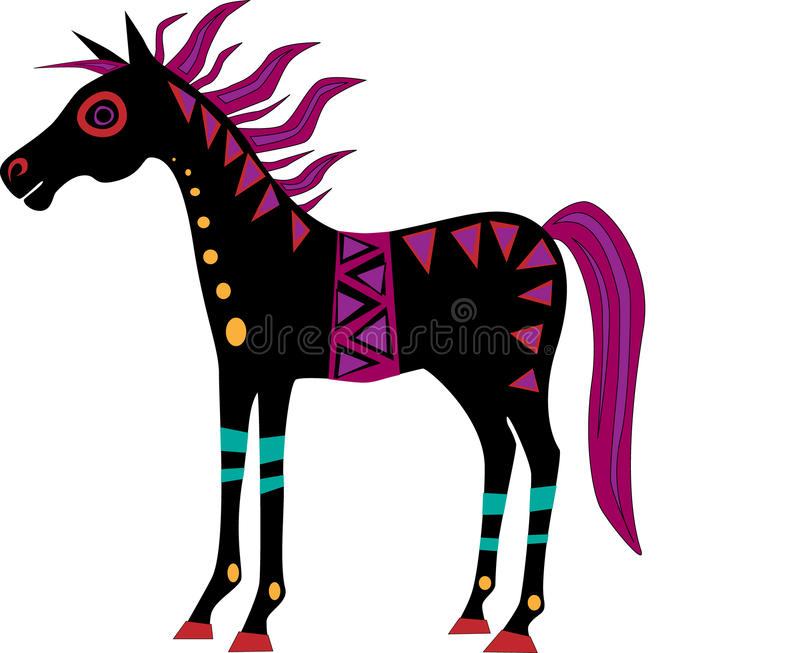 skraj häst stock illustrationer