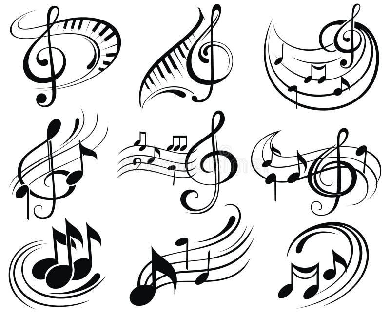 skraj musik för bakgrund vektor illustrationer