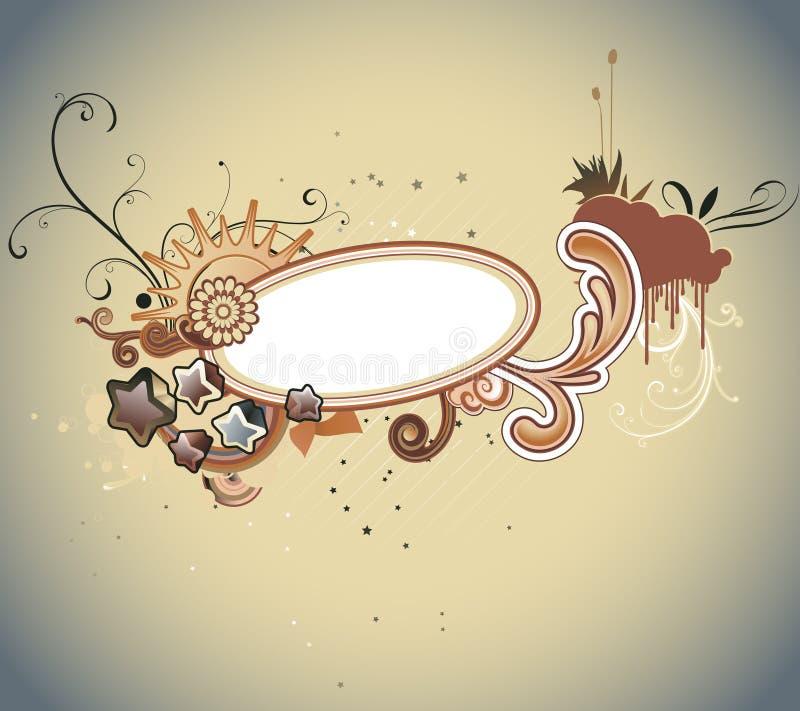 Skraj ram royaltyfri illustrationer