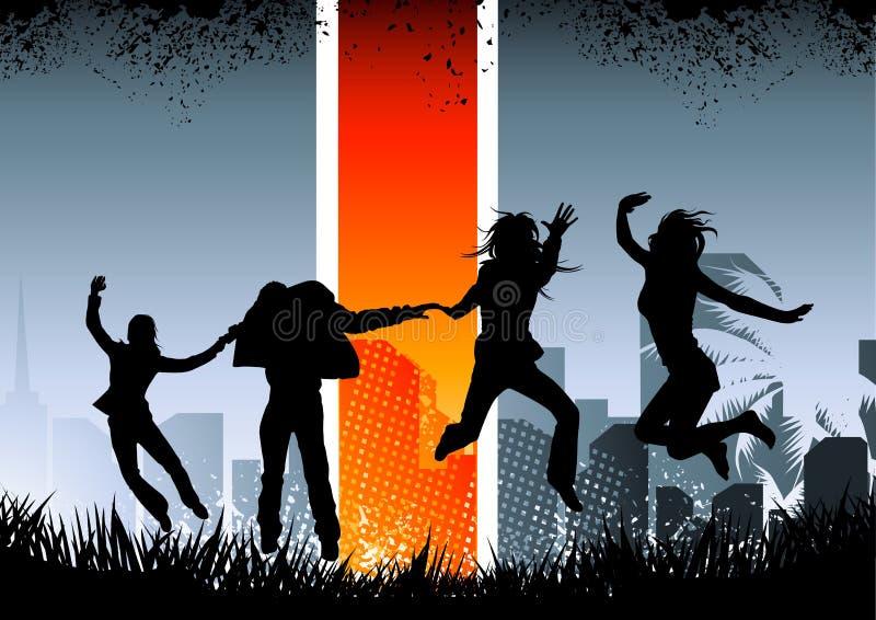 skraj stads- ungdom stock illustrationer