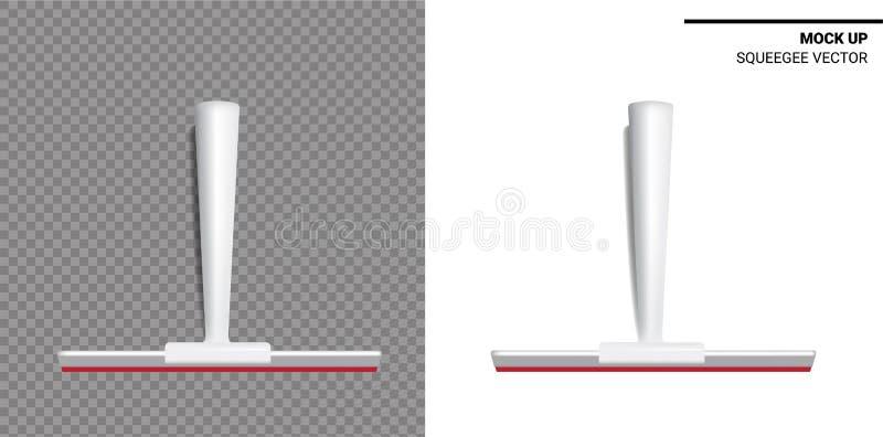 Skrapaåtlöje upp realistiskt rengörande objekt För hushålltorkareting på genomskinlig och vit bakgrund stock illustrationer