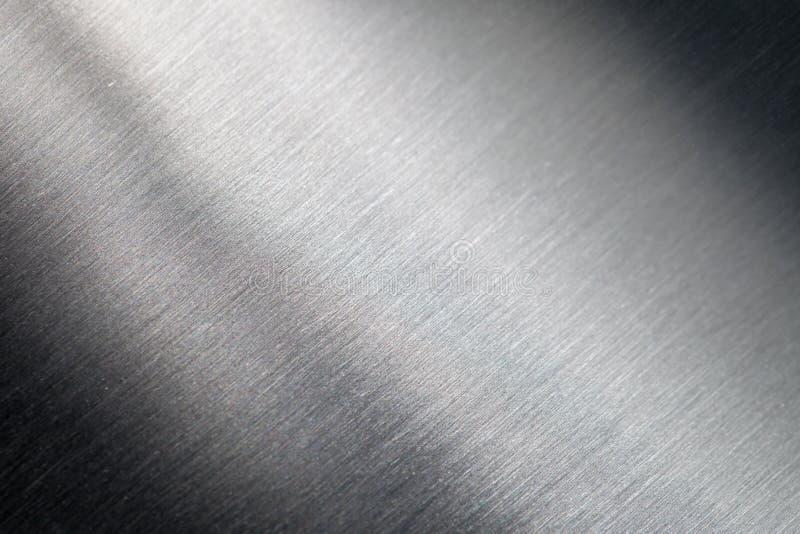 Skrapad metallyttersida arkivbild