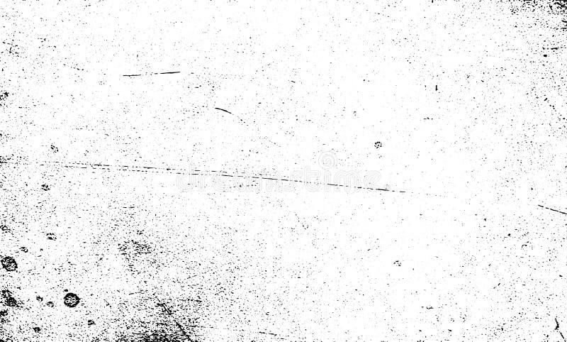 Skrapad svartvit texturvektor för Grunge korn stock illustrationer