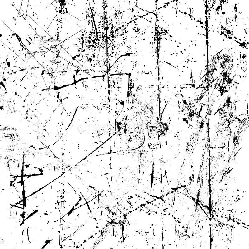 skrapad textur royaltyfri illustrationer