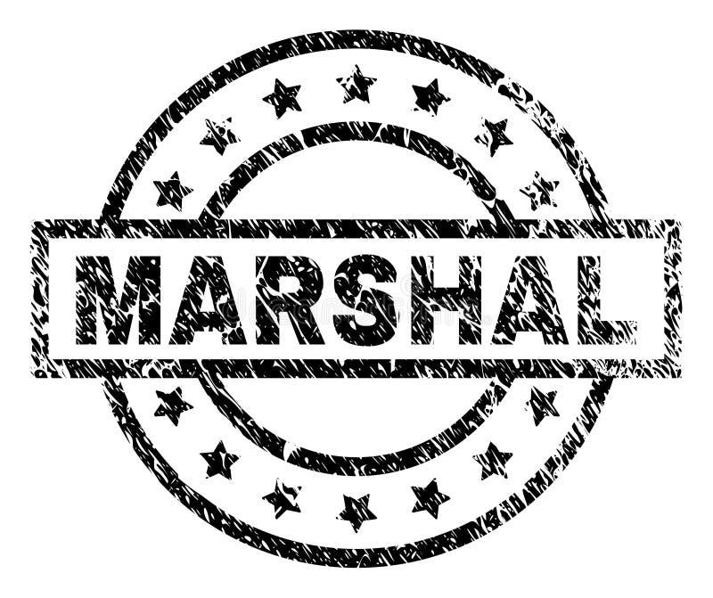 Skrapad texturerad MARSKALK Stamp Seal vektor illustrationer