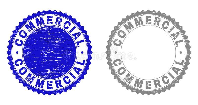 Skrapade stämpelskyddsremsor för Grunge REKLAMFILM vektor illustrationer