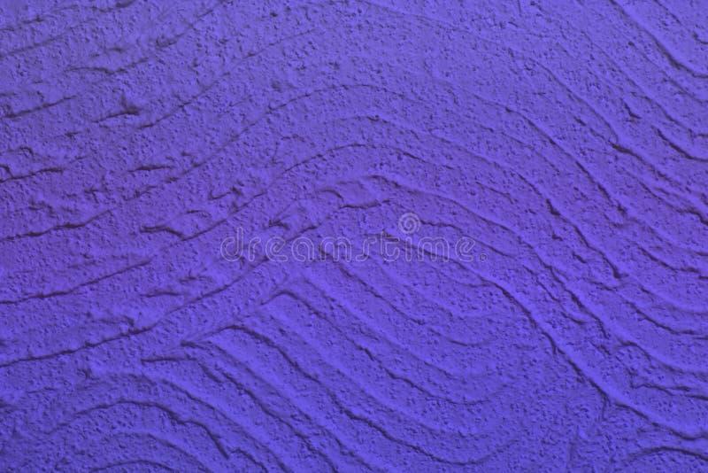 Skrapat blått vinkade stuckaturen på väggtextur - underbar abstrakt fotobakgrund arkivfoto