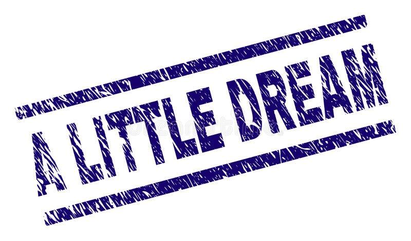 Skrapat texturerade LITE den DRÖM- stämpelskyddsremsan vektor illustrationer