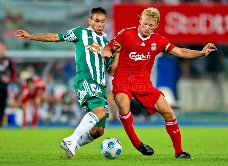 SKRapid gegen Liverpool FC stockfotografie