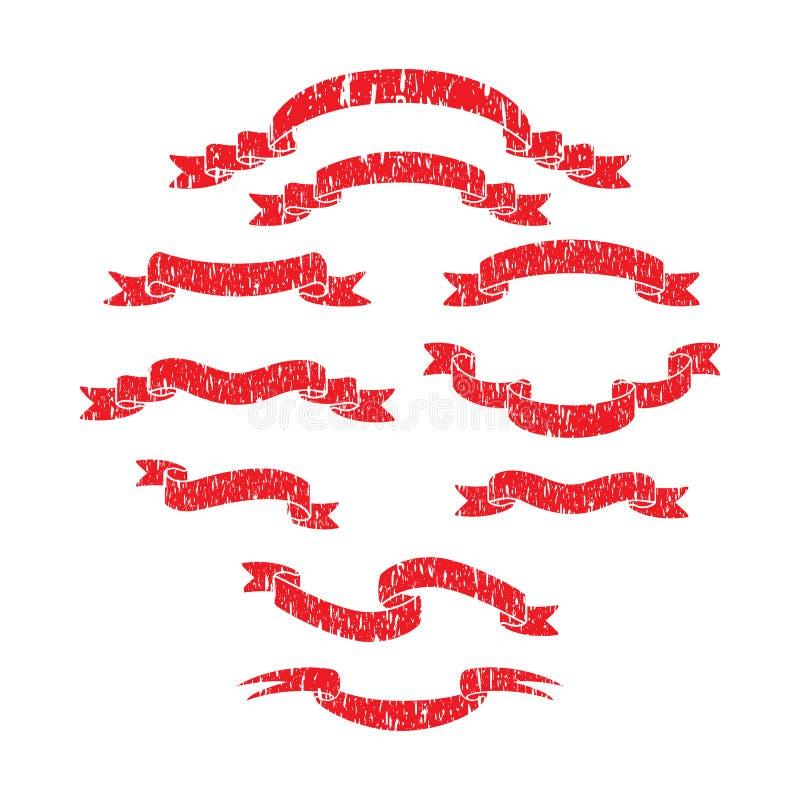 Skrapor för stil för bandbanergrunge royaltyfri illustrationer