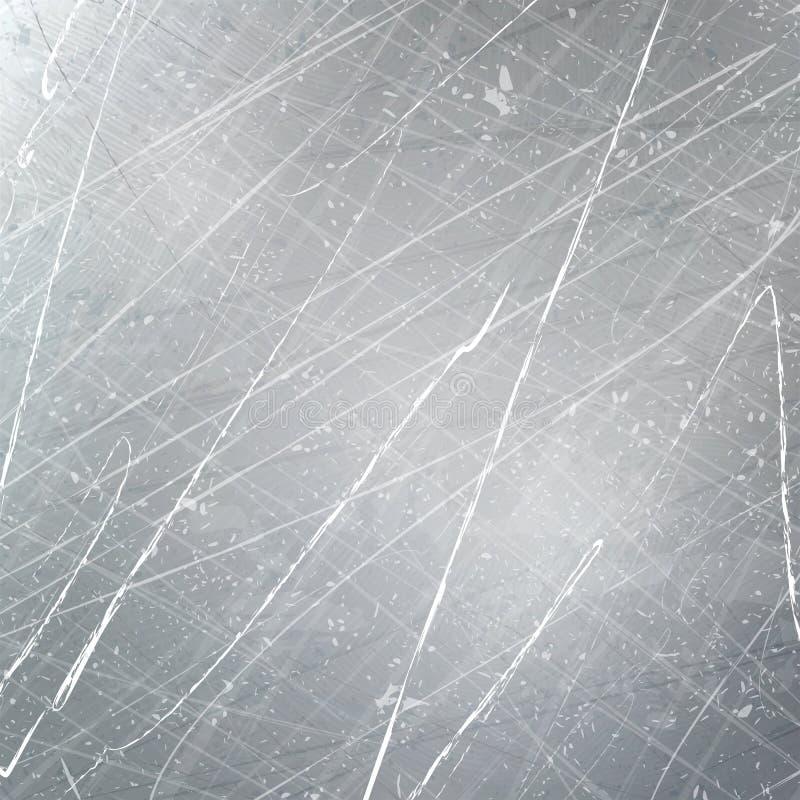 Skrapor på metallen skrapa grunge Texturvektor vektor illustrationer