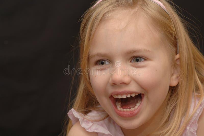 skratta för flicka arkivbilder