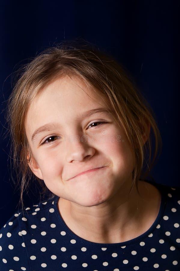 skratta för flicka arkivfoto