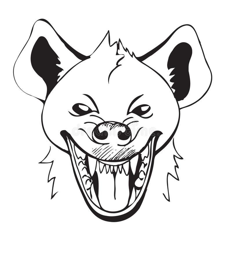 skratta för hyena vektor illustrationer