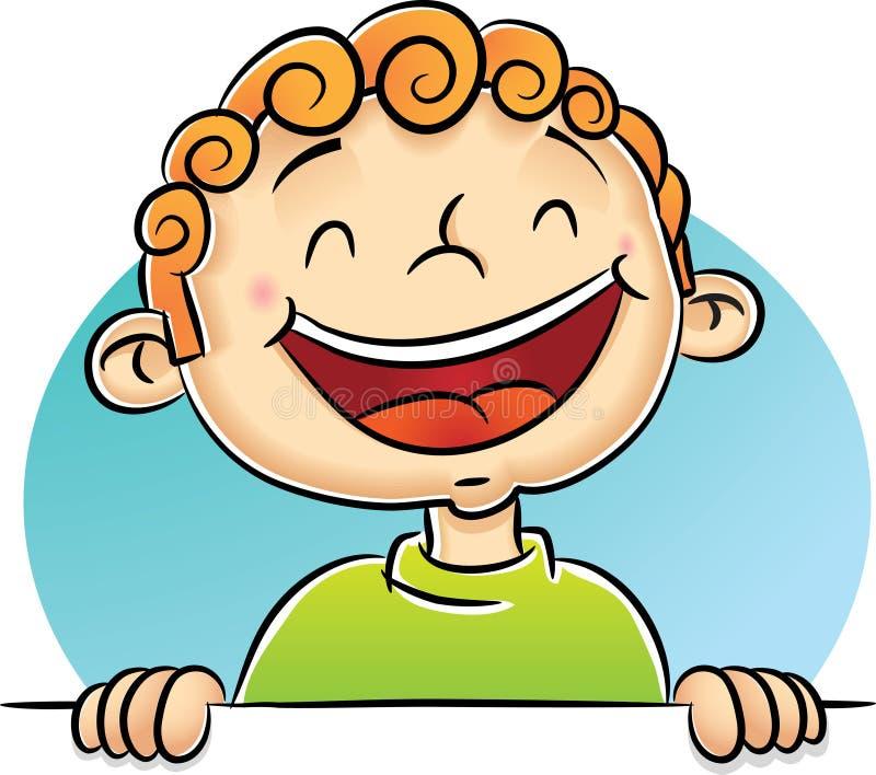 skratta för pojke royaltyfri illustrationer