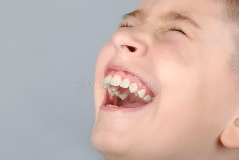skratta för pojke royaltyfri foto