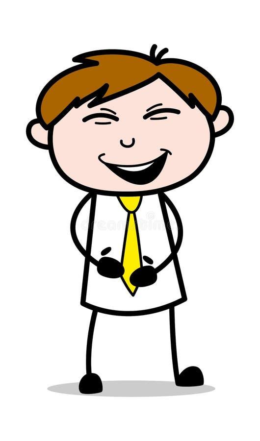 Skratta - kontorsrepresentantEmployee Cartoon Vector illustration royaltyfri illustrationer
