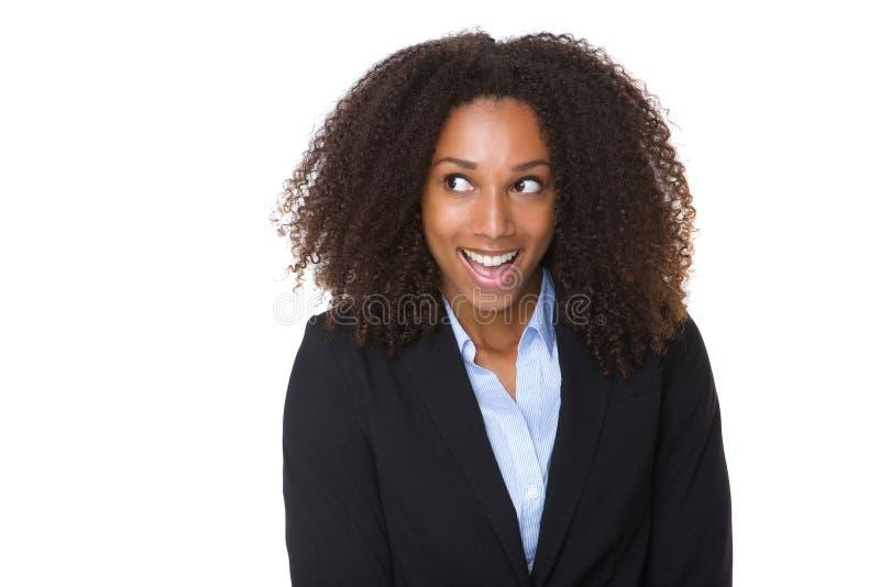 skratta kvinnabarn för affär royaltyfri fotografi