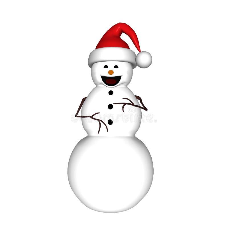 skratta snowman arkivfoton