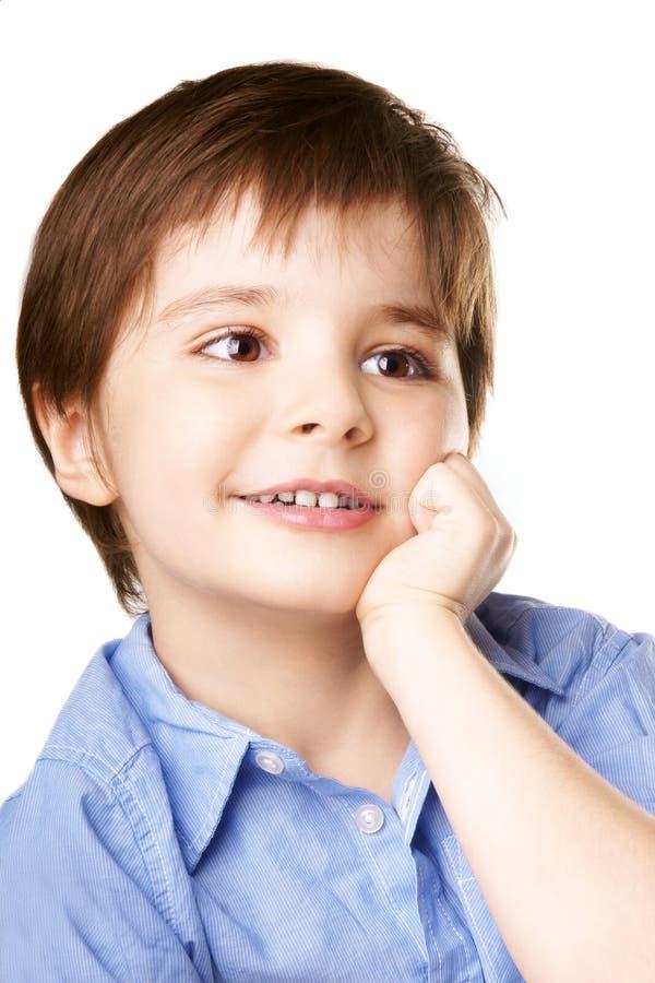Skratta ungen royaltyfria bilder