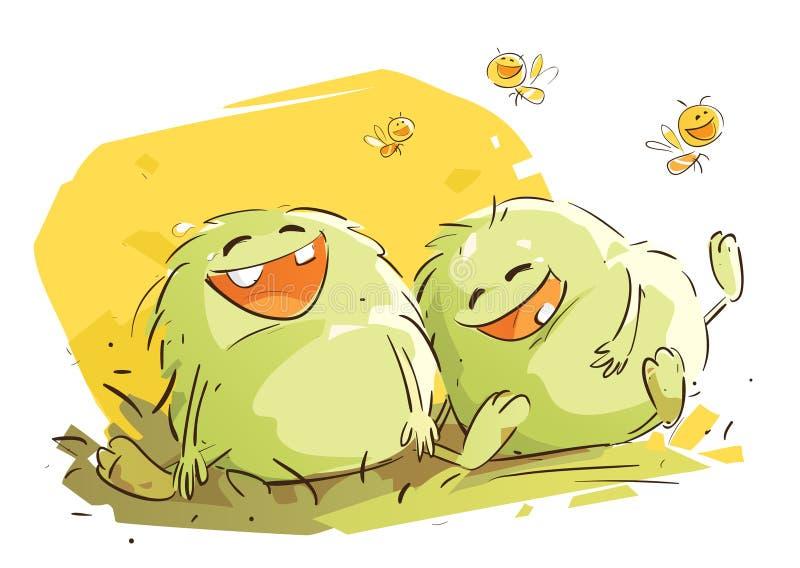 Skrattet är smittsamt stock illustrationer