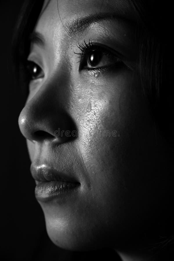skriande japansk kvinna royaltyfri fotografi