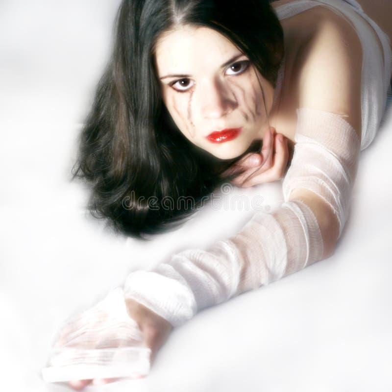 skriande kvinna arkivfoton