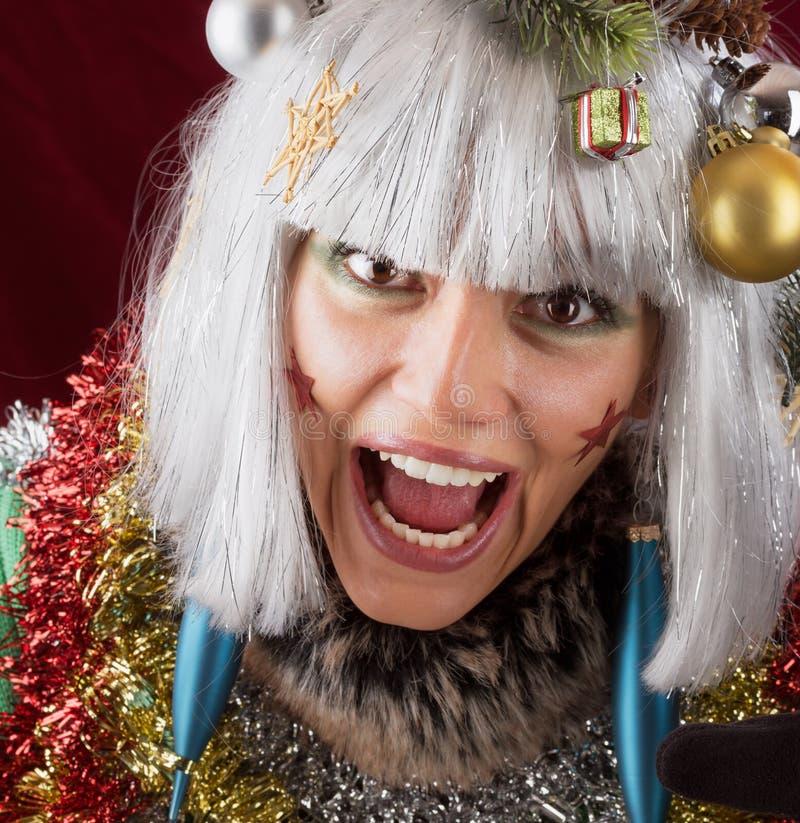 Skrik för jul fotografering för bildbyråer