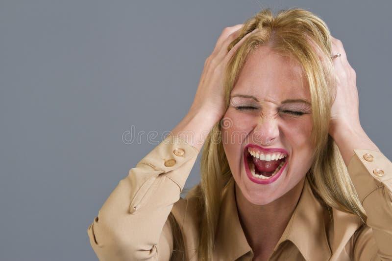 skrikig kvinna fotografering för bildbyråer