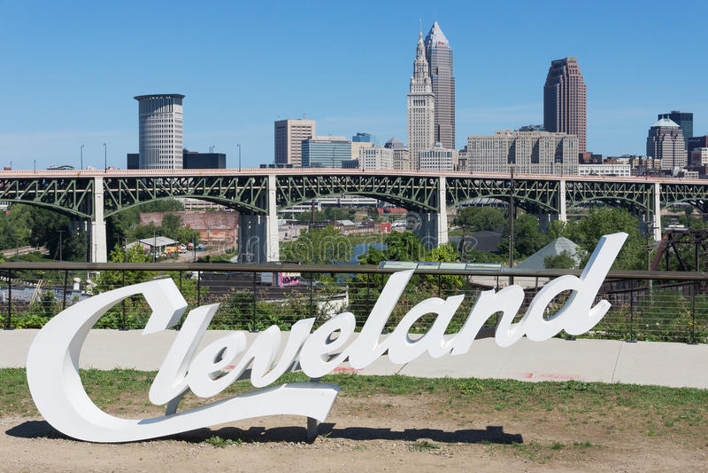 Skript Cleveland lizenzfreies stockfoto