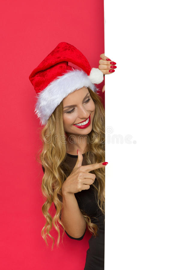 Skriv din julönska royaltyfria bilder
