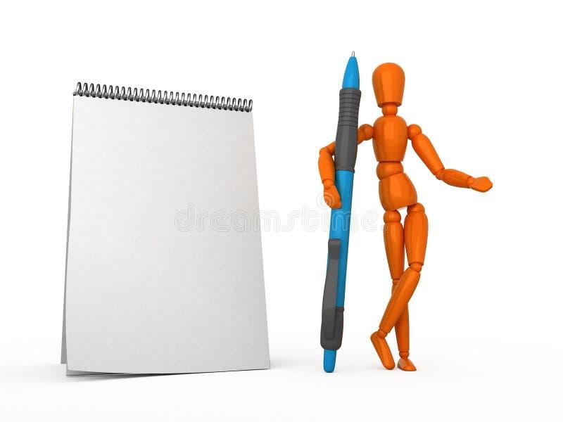 skriv ner vektor illustrationer
