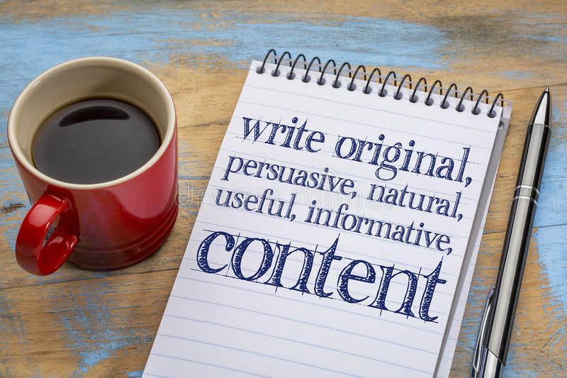 Skriv originalet, användbart informativt conctent - skrivplattan royaltyfri fotografi