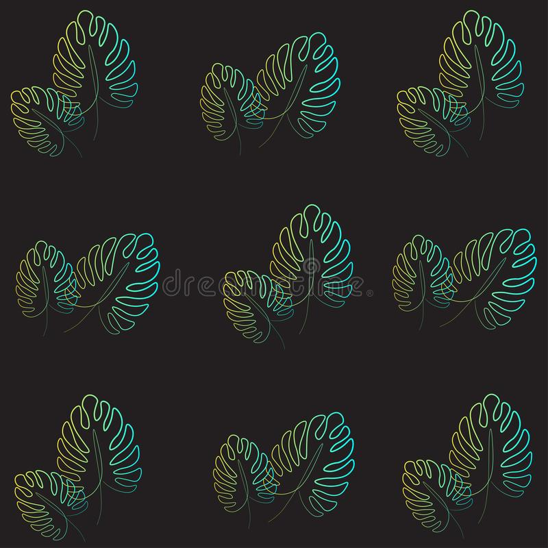 Skriv ut härligt gömma i handflatan illustrationen för bladmodellvektorn vektor illustrationer