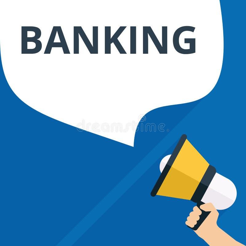 Skriva anmärkningen som visar bankrörelsen royaltyfri illustrationer