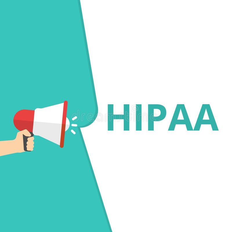 Skriva anmärkningen som visar Hipaa royaltyfri illustrationer
