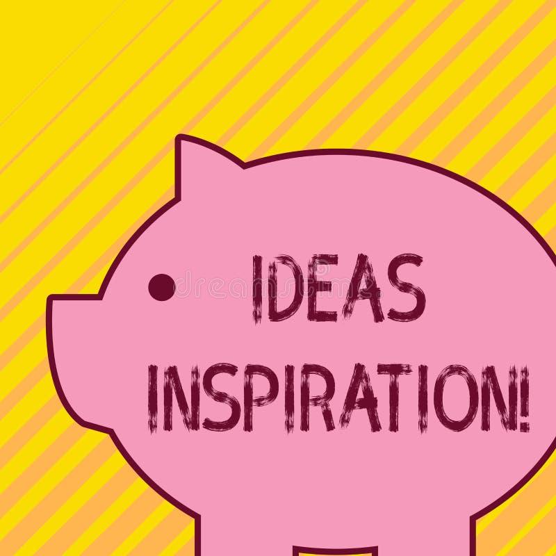Skriva anmärkningen som visar idéinspiration Affärsfoto som ställer ut känsla av entusiasm dig för att få från någon eller stock illustrationer
