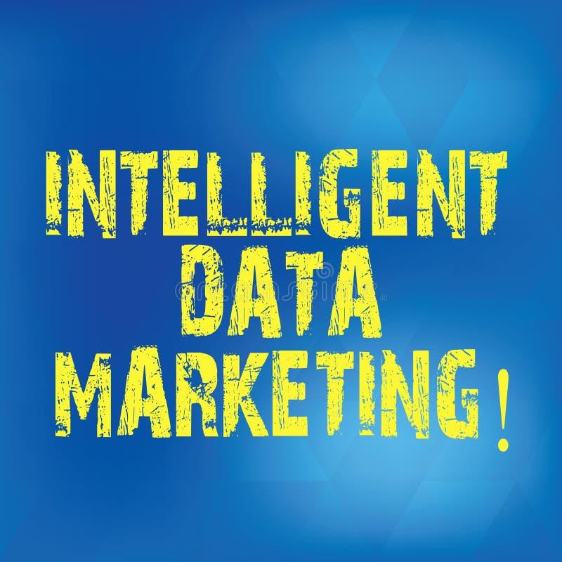 Skriva anmärkningen som visar intelligent datamarknadsföring Affärsfotoet som ställer ut information som är relevant till ett mål vektor illustrationer