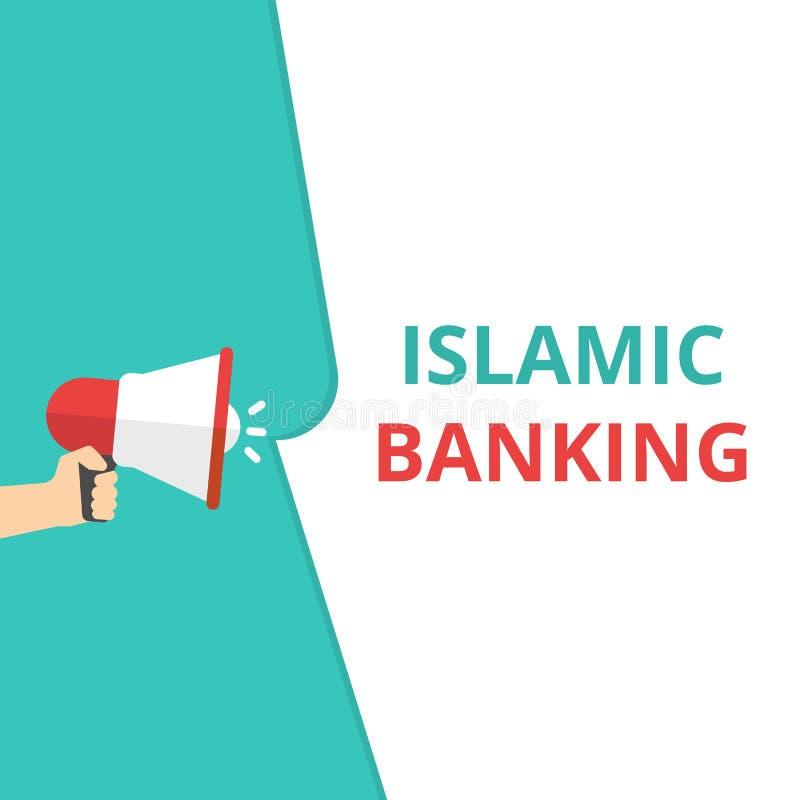Skriva anmärkningen som visar islamiska bankrörelsen vektor illustrationer