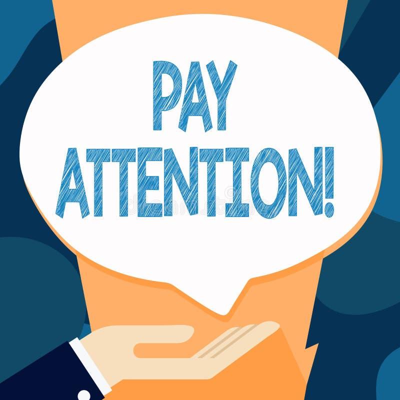 Skriva anmärkningen som visar lönuppmärksamhet Att ställa ut för affärsfoto tar meddelandet av någon eller något som hand royaltyfri illustrationer