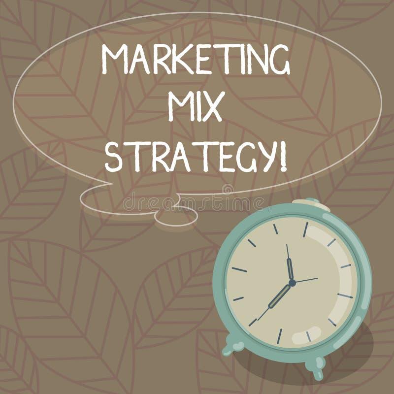 Skriva anmärkningen som visar marknadsföra blandningstrategi Affärsfoto som ställer ut uppsättningen av det governable taktiska f vektor illustrationer