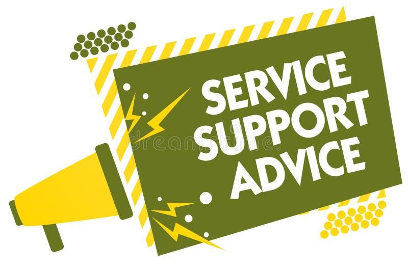 Skriva anmärkningen som visar rådgivning för tjänste- service Affärsfoto som ställer ut ge hjälp till andra i muntlig eller handl stock illustrationer
