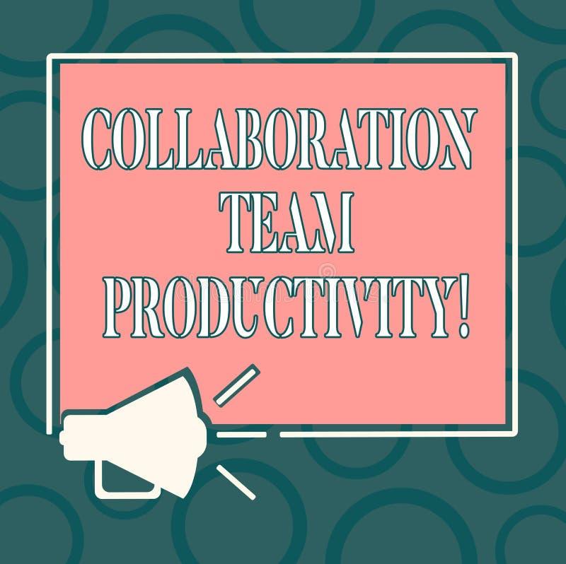 Skriva anmärkningen som visar samarbete Team Productivity Affärsfoto som ställer ut fastställda lagmål för att nå som är gemensam royaltyfri illustrationer