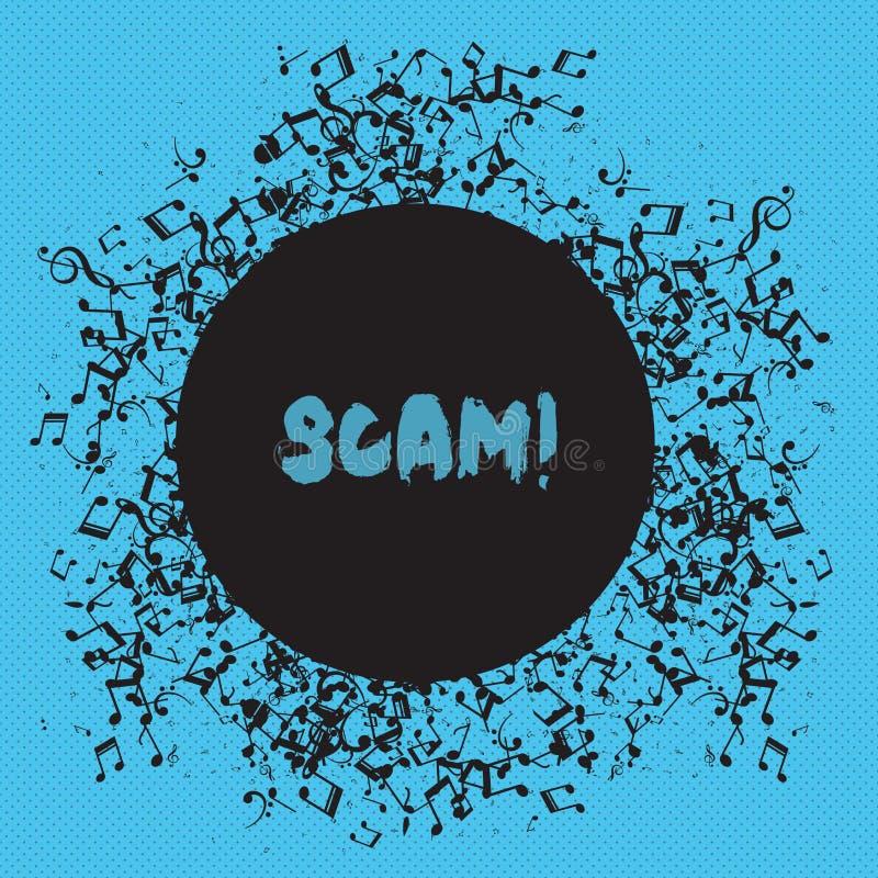 Skriva anmärkningen som visar Scam Affärsfoto som ställer ut ohederligt folk för handlingsbedrägeritrick för framställning av pen stock illustrationer